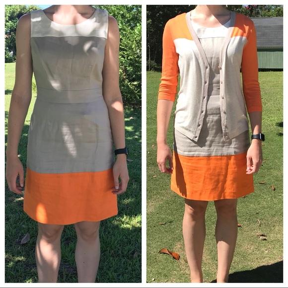 3b723255bb7 Banana Republic Dresses   Skirts - Banana Republic Linen dress and matching  cardigan